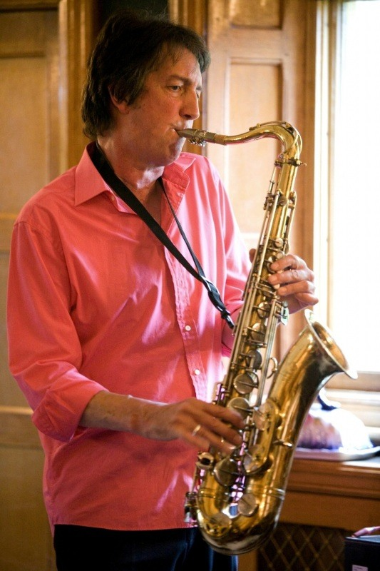 Saxophone with backing tracks